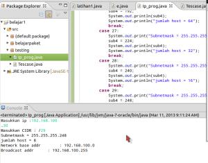 Implementasi Kalkulasi Ipaddress dalam Java programming